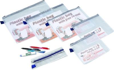 FG8617   (鉛筆盒)多功能網狀袋 228X75X5 mm